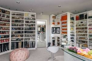 walk in closet för skor